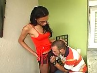 Usual date with raunchy shemale ends with breathtaking banging for hot guy