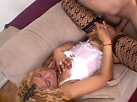 Hot blonde tranny giving head adnd getting it anally here