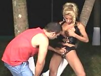 Steamy blonde shemale needs guyÂ's warm mouth itching for frenetic blowjob