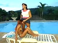 Salacious shemale having great chance to satisfy her sex-fever with a cutie