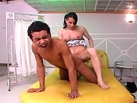 Insatiable shemale eagerly ass-fucking kinky guy in all positions possible