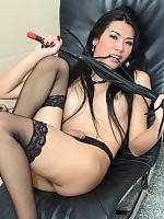 Yummy exotic ladyboy Eat provokingly stripping off