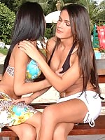 Two salacious shemales getting down to sizzling hot ass-pumping outdoors