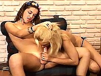 Redhead shemale fucking blonde female