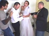 Smashing looking shemale bride massaging guys butthole in every which way