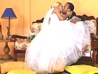 Hot shemale wife impaling her husbands ass during her first wedding night